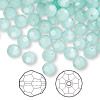 Bead, Swarovski crystal, Crystal Passions®, mint alabaster, 6mm faceted round (5000). Sold per pkg of 144 (1 gross).
