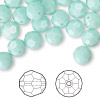 Bead, Swarovski crystal, Crystal Passions®, mint alabaster, 8mm faceted round (5000). Sold per pkg of 144 (1 gross).