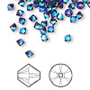 Bead, Swarovski crystal, Crystal Passions®, mocca AB2X, 4mm Xilion bicone (5328). Sold per pkg of 48.