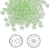 Bead, Swarovski crystal, Crystal Passions®, peridot, 3mm faceted round (5000). Sold per pkg of 144 (1 gross).