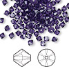 Bead, Swarovski crystal, Crystal Passions®, purple velvet, 4mm Xilion bicone (5328). Sold per pkg of 48.