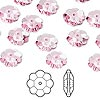 Bead, Swarovski crystal, Crystal Passions®, rose, 10x3.5mm faceted marguerite lochrose flower (3700). Sold per pkg of 12.