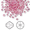 Bead, Swarovski crystal, Crystal Passions®, rose, 3mm Xilion bicone (5328). Sold per pkg of 48.