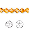 Bead, Swarovski crystal, Crystal Passions®, sun, 8mm faceted bicone (5301). Sold per pkg of 72.