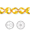 Bead, Swarovski crystal, Crystal Passions®, sunflower, 10mm faceted round (5000). Sold per pkg of 2.