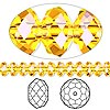 Bead, Swarovski crystal, Crystal Passions®, sunflower, 6x4mm faceted rondelle (5040). Sold per pkg of 144 (1 gross).