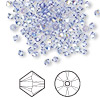 Bead, Swarovski crystal, Crystal Passions®, tanzanite AB, 3mm Xilion bicone (5328). Sold per pkg of 144 (1 gross).