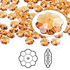 Bead, Swarovski crystal, Crystal Passions®, topaz, 6x2mm faceted marguerite lochrose flower (3700). Sold per pkg of 12.