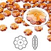 Bead, Swarovski crystal, Crystal Passions®, topaz, 8x3mm faceted marguerite lochrose flower (3700). Sold per pkg of 12.