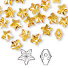 Bead, Swarovski crystal, Crystal Passions®, topaz, 8x8mm faceted star (5714). Sold per pkg of 24.