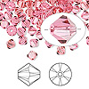 Bead, Swarovski crystal, Indian pink, 5mm faceted bicone (5301). Sold per pkg of 144 (1 gross).