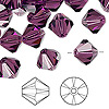 Bead, Swarovski crystal, amethyst, 10mm Xilion bicone (5328). Sold per pkg of 144 (1 gross).