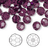 Bead, Swarovski crystal, amethyst, 8mm faceted round (5000). Sold per pkg of 288 (2 gross).