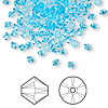 Bead, Swarovski crystal, aquamarine, 3mm Xilion bicone (5328). Sold per pkg of 1,440 (10 gross).
