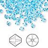 Bead, Swarovski crystal, aquamarine, 4mm Xilion bicone (5328). Sold per pkg of 1,440 (10 gross).