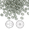 Bead, Swarovski crystal, black diamond, 4mm faceted round (5000). Sold per pkg of 144 (1 gross).