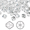 Bead, Swarovski crystal, crystal clear, 6mm Xilion bicone (5328). Sold per pkg of 360.