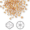 Bead, Swarovski crystal, crystal copper, 3mm Xilion bicone (5328). Sold per pkg of 1,440 (10 gross).