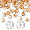 Bead, Swarovski crystal, crystal copper, 6mm faceted round (5000). Sold per pkg of 360.