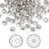Bead, Swarovski crystal, crystal satin, 4mm faceted round (5000). Sold per pkg of 144 (1 gross).