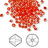Bead, Swarovski crystal, hyacinth, 3mm Xilion bicone (5328). Sold per pkg of 1,440 (10 gross).