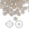 Bead, Swarovski crystal, light grey opal, 6mm faceted bicone (5301). Sold per pkg of 144 (1 gross).
