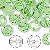 Bead, Swarovski crystal, peridot, 10mm faceted round (5000). Sold per pkg of 144 (1 gross).