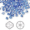 Bead, Swarovski crystal, sapphire, 4mm Xilion bicone (5328). Sold per pkg of 1,440 (10 gross).