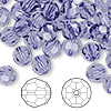Bead, Swarovski crystal, tanzanite, 8mm faceted round (5000). Sold per pkg of 144 (1 gross).