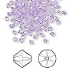 Bead, Swarovski crystal, violet, 3mm Xilion bicone (5328). Sold per pkg of 144 (1 gross).