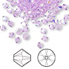 Bead, Swarovski crystal, violet AB, 4mm Xilion bicone (5328). Sold per pkg of 48.