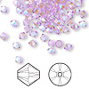 Bead, Swarovski crystal, violet AB2X, 4mm Xilion bicone (5328). Sold per pkg of 48.