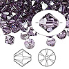 Bead, Swarovski crystal, violet satin, 6mm Xilion bicone (5328). Sold per pkg of 144 (1 gross).