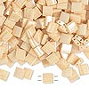Bead, Tila®, glass, opaque ceylon light caramel, (TL593), 5x5mm square with (2) 0.8mm holes. Sold per 10-gram pkg.