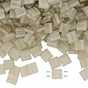 Bead, Tila®, glass, transparent matte luster oyster, (TL3173), 5x5mm square with (2) 0.8mm holes. Sold per 40-gram pkg.