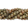 Bead, autumn jasper (natural), 4mm round, C grade, Mohs hardness 6-1/2 to 7. Sold per pkg of (10) 16-inch strands.