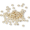 Bead, gold-plated brass, 3x2mm smooth rondelle. Sold per pkg of 100.
