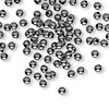 Bead, gunmetal-plated brass, 3mm round. Sold per pkg of 1,000.