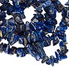 Bead, lapis lazuli (natural), medium chip. Sold per 35-inch strand.