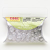 Bead mix, Blue Moon Beads®, acrylic, clear and silver, 10mm fluted round. Sold per pkg of 1.13 ounces, approximately 70 beads.