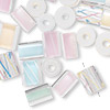 Bead mix, Fire Design Beads cane glass, pastel-colored, mixed size and shape. Sold per 1-pound pkg, approximately 320-560 beads.