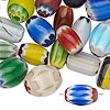 Bead mix, chevron glass, mixed colors, 8x6mm-15x14mm mixed shape. Sold per 1/2 pound pkg, approximately 120 beads.