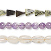 Bead mix, multi-gemstone (natural / dyed / heated / irradiated), multicolored, 4mm-16x10mm hand-cut mixed shape, D grade. Sold per pkg of (3) 14-inch strands.