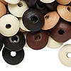 Bead mix, wood, mixed colors, 14x6mm rondelle. Sold per 400-gram pkg, approximately 2,800 beads.