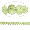 Bead, peridot (natural), 3x1mm-4x3mm hand-cut faceted rondelle, C- grade, Mohs hardness 6-1/2 to 7. Sold per 14-inch strand.