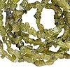 Bead, peridot (natural), mini chip, Mohs hardness 6-1/2 to 7. Sold per 36-inch strand.