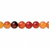 Bead, red agate (dyed / heated), 6-7mm round, C grade, Mohs hardness 6-1/2 to 7. Sold per 15-inch strand.
