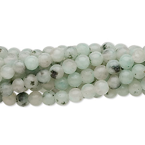Bead, sesame jasper (natural), 4mm round, C grade, Mohs hardness 6-1/2 to 7. Sold per pkg of (10) 16-inch strands.