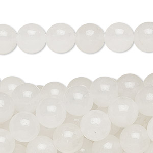 Bead, snow quartz (natural), 8mm round, C grade, Mohs hardness 7. Sold per pkg of (10) 16-inch strands.