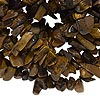 Bead, tigereye (natural), medium chip, Mohs hardness 7. Sold per 35-inch strand.